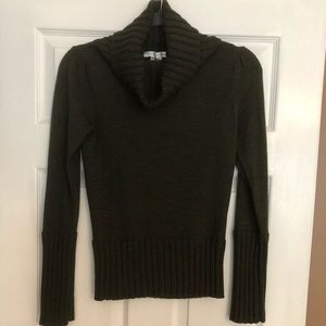 Gorgeous hunter green cowl neck DVF sweater.